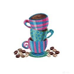 Small Crop Of Coffee Cups Design