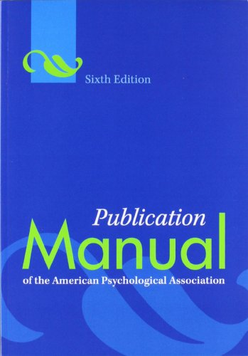 6th edition of the apa manual