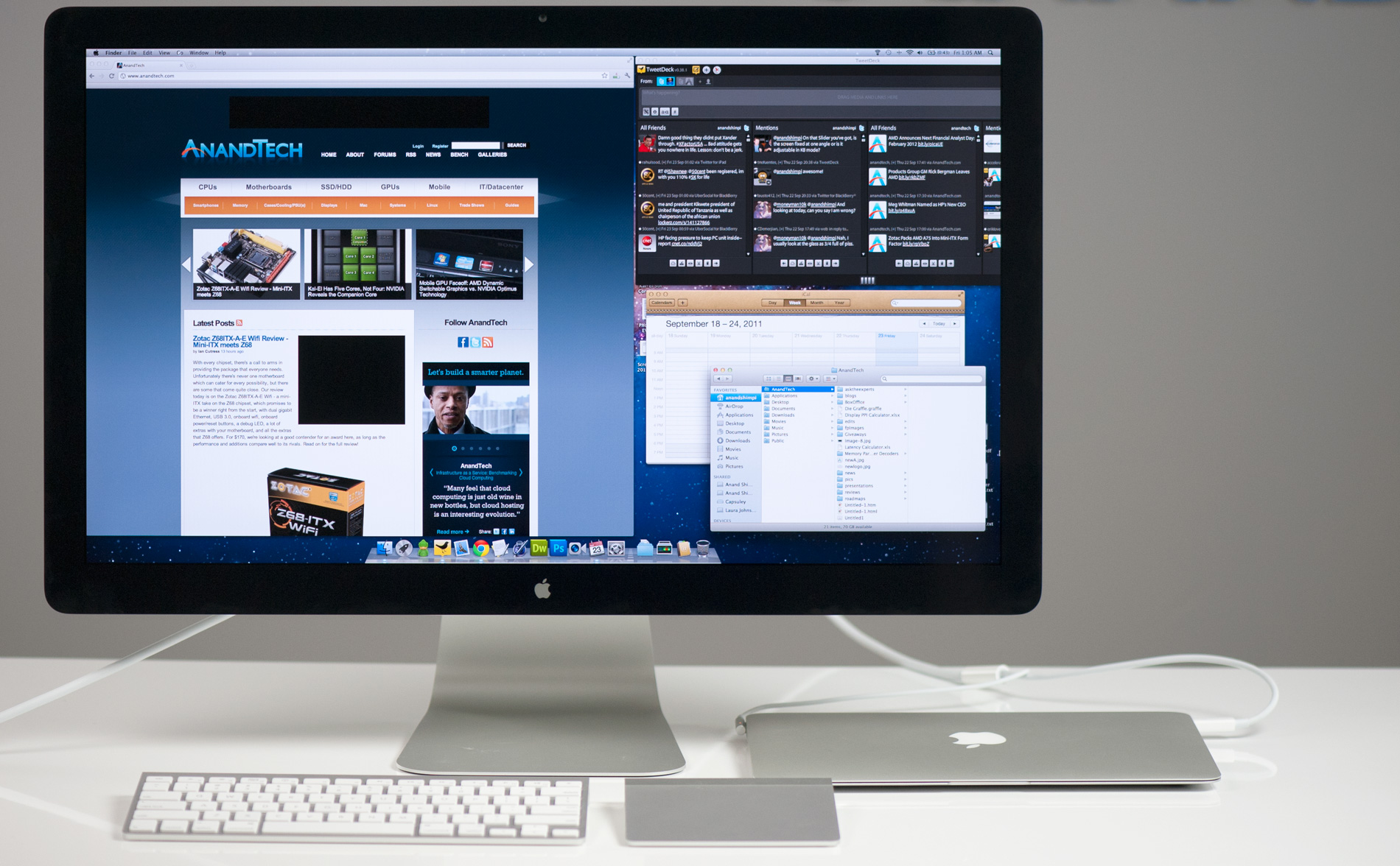Apple Monitor The Apple Thunderbolt Display Review