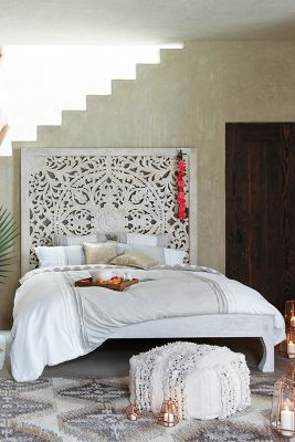 Black Mango Bed Heads Lombok Bed Anthropologie