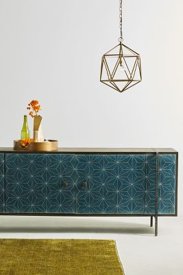 Teal Blue Kitchen Cabinets Consoles & Bookshelves | Anthropologie