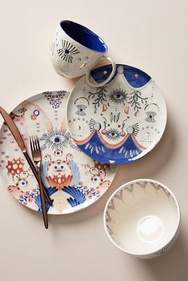 Essteller Set Longina Phillips Echo 4 Teiliges Essteller Set Anthropologie De