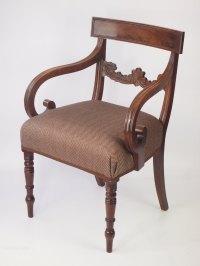 Antique Regency Mahogany Desk Chair - Antiques Atlas