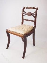 Regency Mahogany & Brass Inlaid Trafalgar Chair - Antiques ...