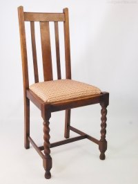 Set 4 Vintage Oak Dining Chairs Circa 1920s - Antiques Atlas