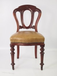 Victorian Mahogany & Leather Desk Chair - Antiques Atlas
