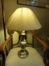 Antiques Atlas - 1940's Tall Brass And Bakelite Table Lamp