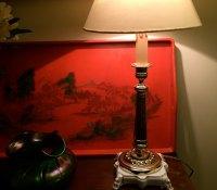Antiques Atlas - Elegant 1920 Dressing Table Lamp Brass ...
