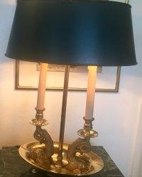 Antiques Atlas - Tall Bouillotte Empire Style Desk Lamp