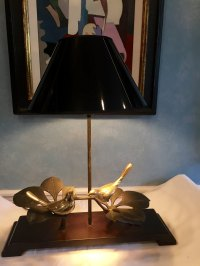 Antiques Atlas - Unusual Table Lamp Brass Birds
