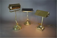 Antiques Atlas - Heavy Adjustable Brass Bankers Lamp