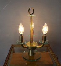 Antiques Atlas - Italian 1950's Glass And Brass Table Lamp