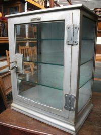 Antiques Atlas - Small Industrial Metal Medicine Cabinet