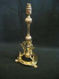 Antiques Atlas - Victorian Brass Table Lamp