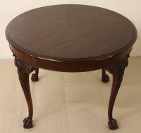 Round Mahogany Coffee Table - Antiques Atlas