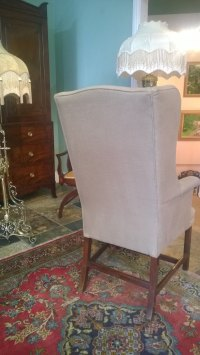 George III Mahogany Wing Arm Chair - Antiques Atlas