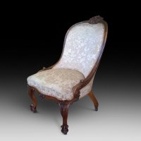 Victorian Walnut Nursing Chair - Antiques Atlas