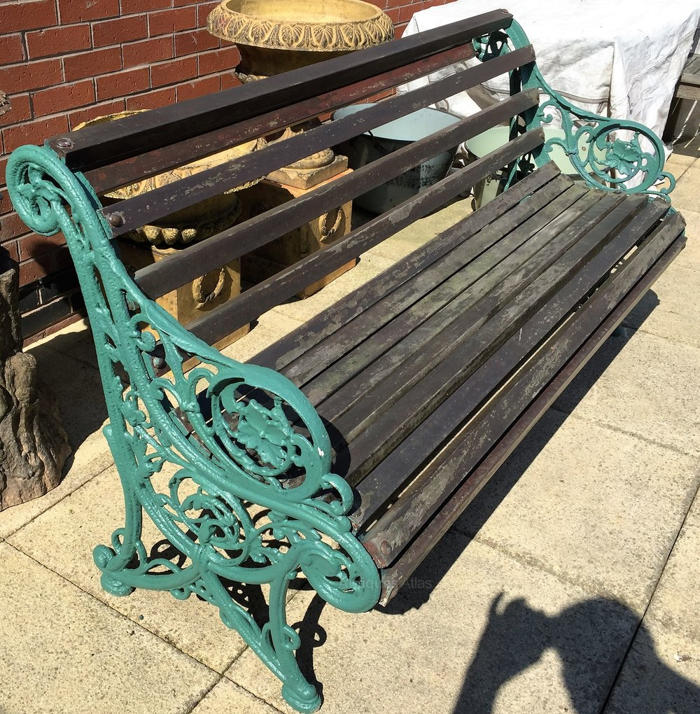 Antiques Atlas Victorian Cast Iron Garden Bench
