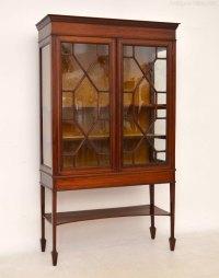 Antique Edwardian Inlaid Mahogany Display Cabinet ...