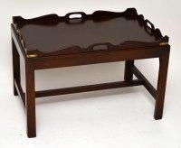 Antique Mahogany Tray Top Coffee Table - Antiques Atlas