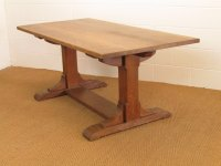Heal's Arts & Crafts Oak Refectory Dining Table - Antiques ...