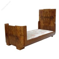 Art Deco Bed In Walnut By Hille