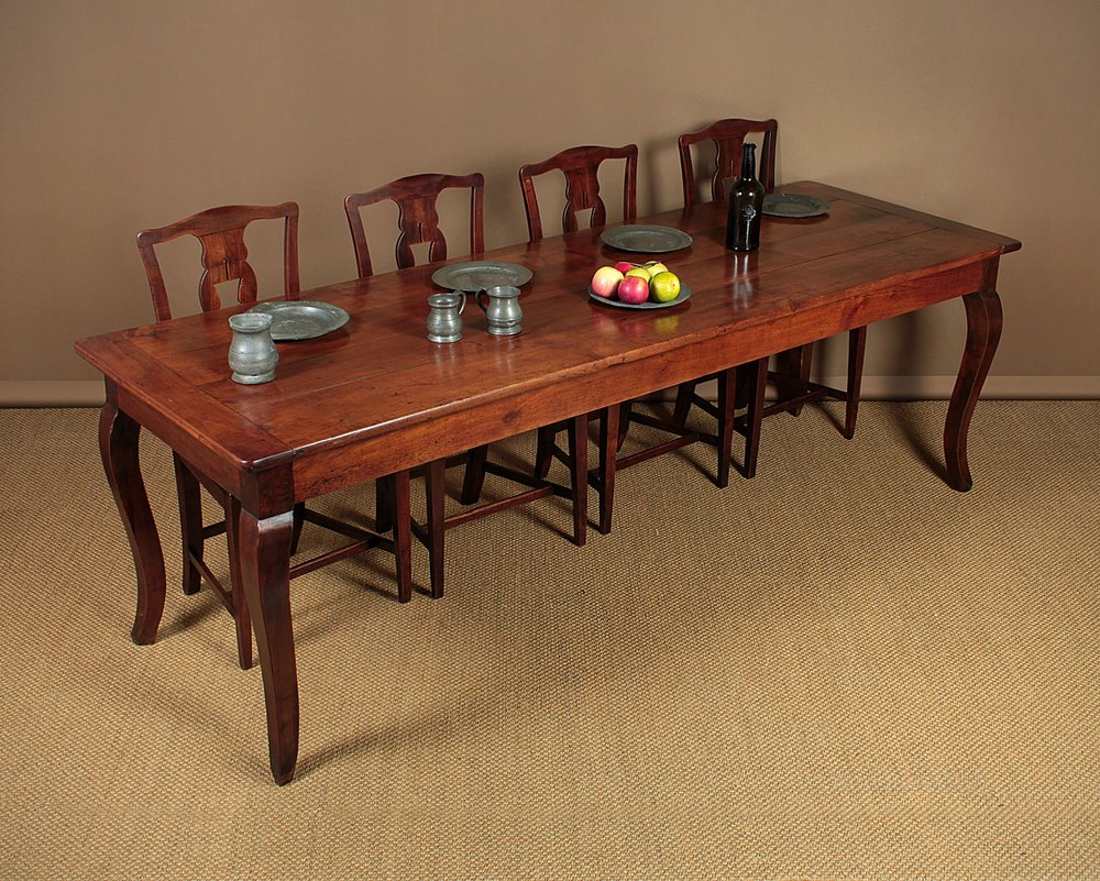 10 Seater Kitchen Table 10 Seater Cherrywood Farmhouse Dining Table C 1850 Antiques Atlas