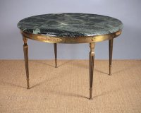Marble & Brass Coffee Table C.1950. - Antiques Atlas