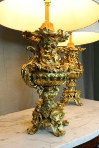 Antiques Atlas - Pair Exceptional Quality Rococo Table Lamps.