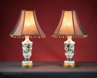 Antiques Atlas - Pair Vintage Porcelain Table Lamps C.1960.