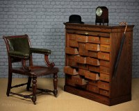 Roll Front 32 Drawer Office Filing Cabinet C.1910 ...