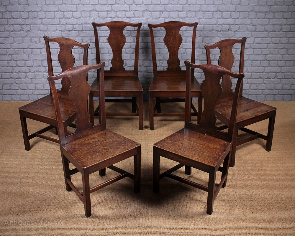 Set Of Six Georgian Chippendale Dining Chairs Antiques Atlas