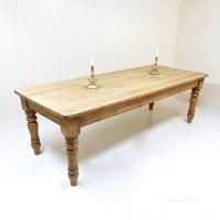 Antiques Atlas - Large Pine Farmhouse Kitchen Table
