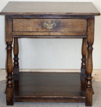 Antiques Atlas - Distressed Oak Lamp Table With Drawer