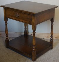Antiques Atlas - Distressed Oak Side Lamp Table With Drawer