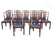 Set Of Twelve Antique Mahogany Dining Room Chairs ...