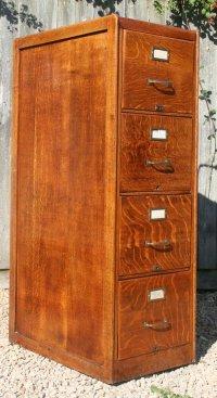 Vintage Oak Filing Cabinet - Antiques Atlas