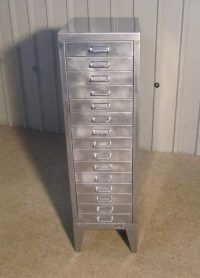 Antiques Atlas - 20th Century Steel 15 Drawer Filing Cabinet