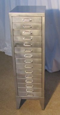 20th Century Steel 15 Drawer Filing Cabinet - Antiques Atlas