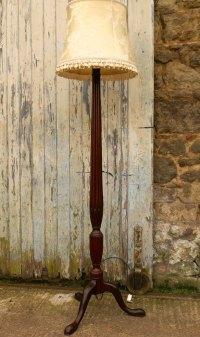 Antiques Atlas - A Mahogany Floor Standing Lamp