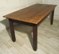 A Rustic French Elm Kitchen Table - Antiques Atlas
