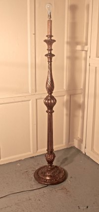 Antiques Atlas - French Turned Gilt-wood Floor Standing Lamp