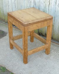Pine Work Table, Chopping Block Kitchen Island - Antiques ...