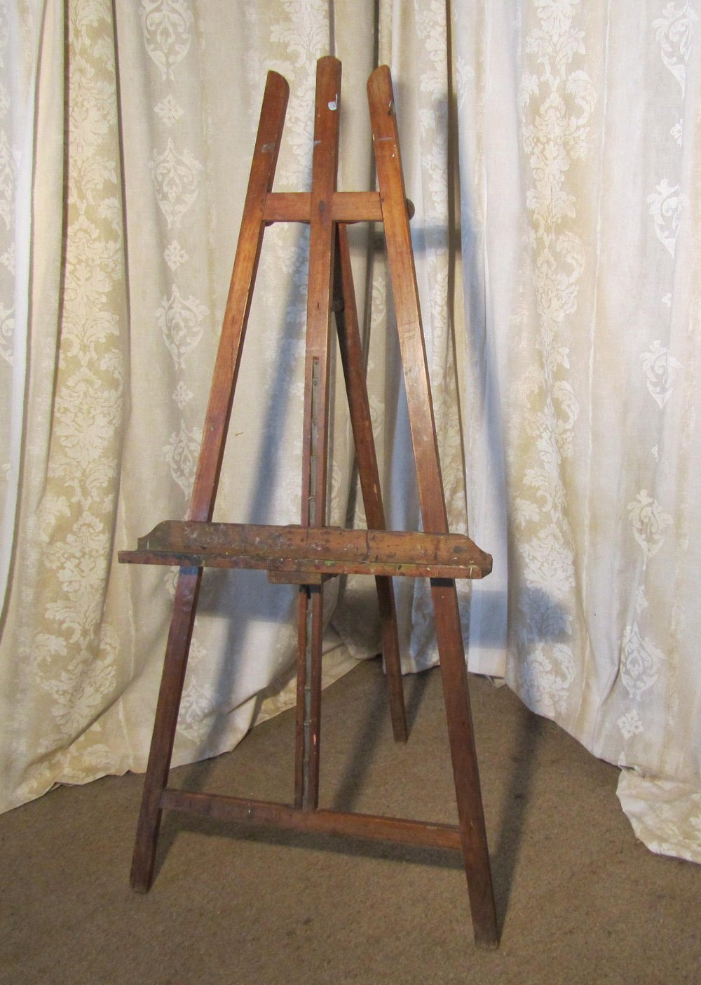 Artist Easel Australia Rustic French Beech Artists Easel Antiques Atlas