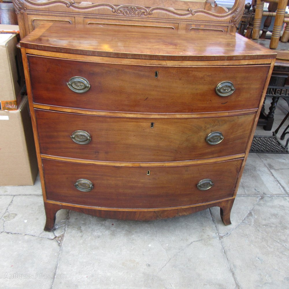 Antique Mahogany Bow Front Chest Of Drawers Antiques Atlas