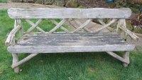 Antiques Atlas - Vintage Rustic Garden Bench / Seat