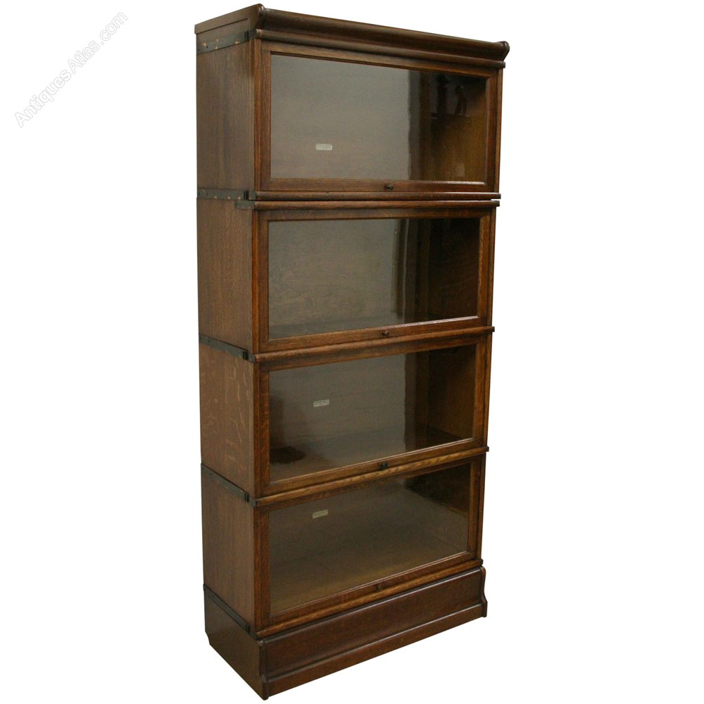 Globe Wernicke Oak Sectional Stacking Bookcase Antiques