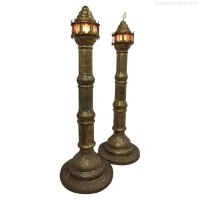 Antiques Atlas - Large Pair Of Brass Floor Standing Lamps