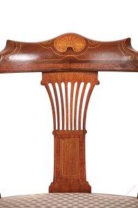 Edwardian Mahogany Inlaid Corner Chair - Antiques Atlas