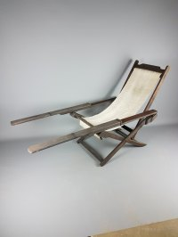 Early 20thC British Colonial Campaign Plantation Chair ...